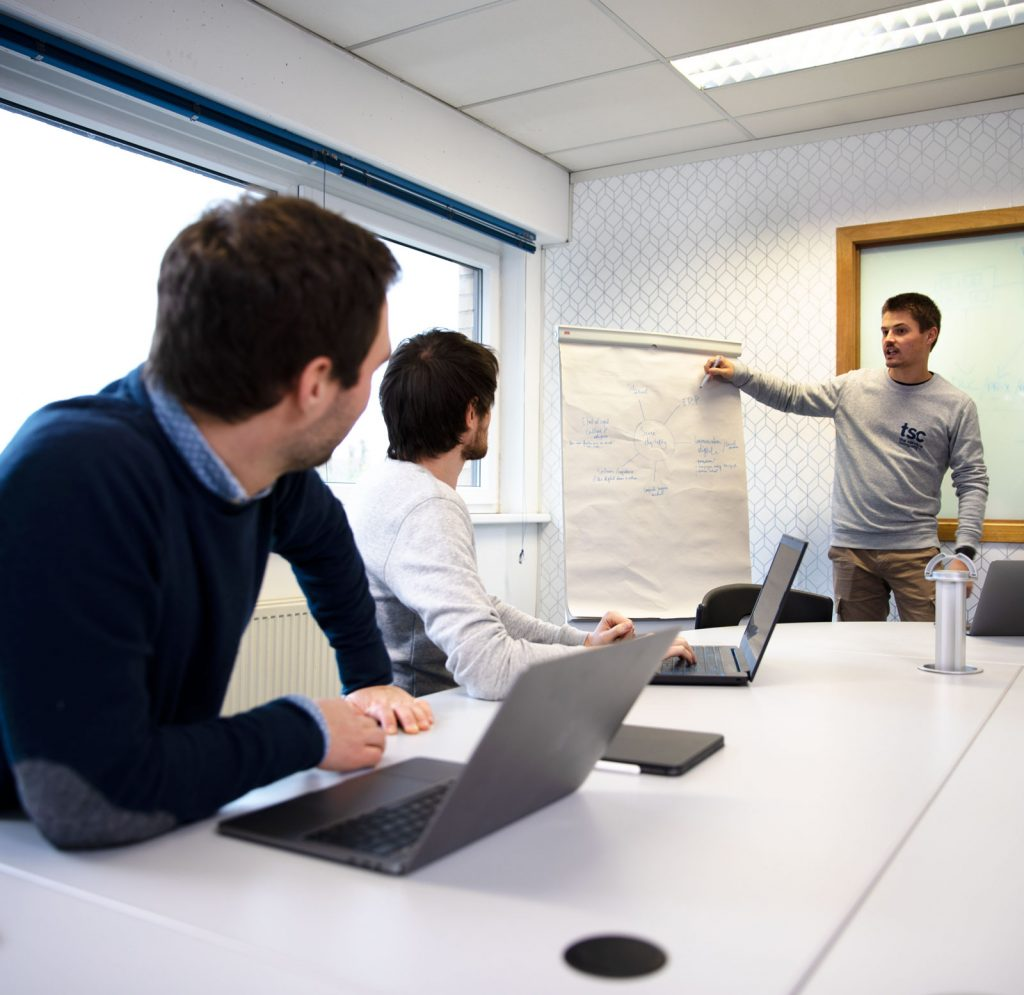 image meeting showing strategy the service company